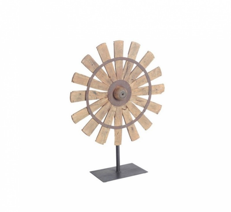 Reclaimed Spinning Wheel Citadel Home Decor Solid Wood
