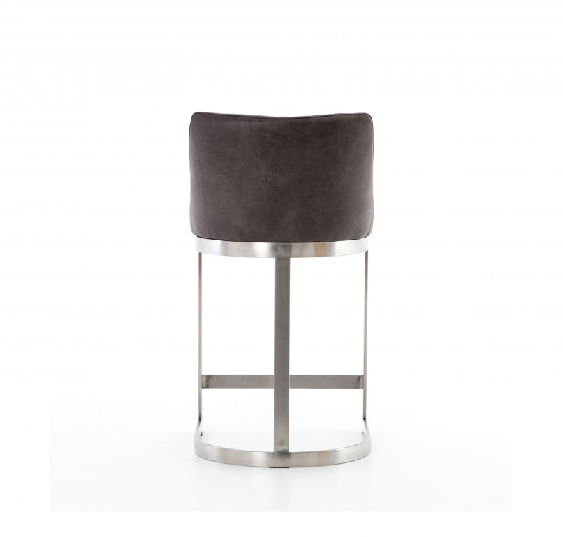 Rory Black Faux Leather Amp Chrome Finished Stainless Steel Counter Stool Four Hands