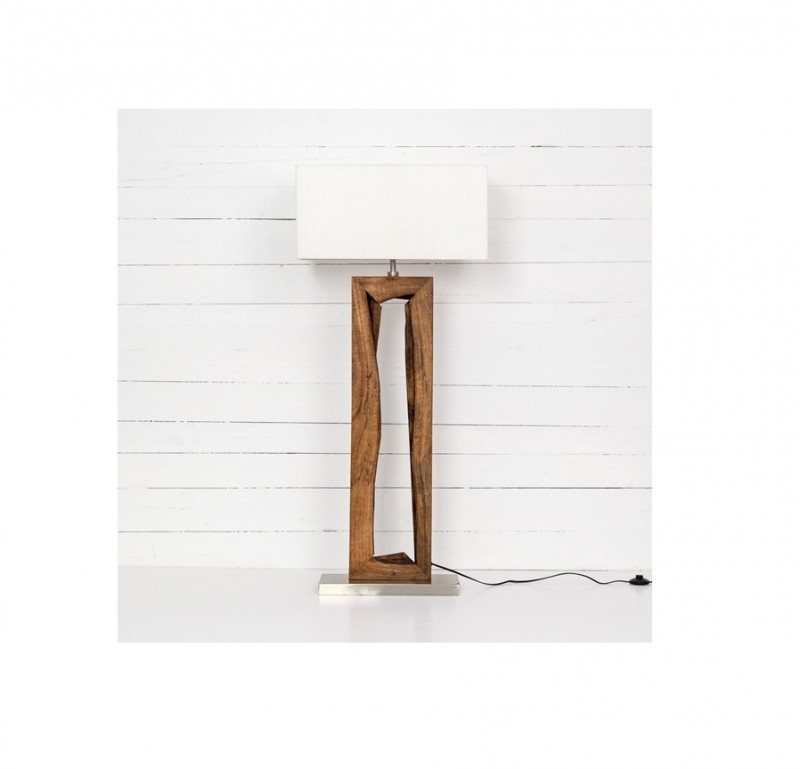 Four Hands Granada Floor Lamp Solid Mango Wood Reside Furnishings