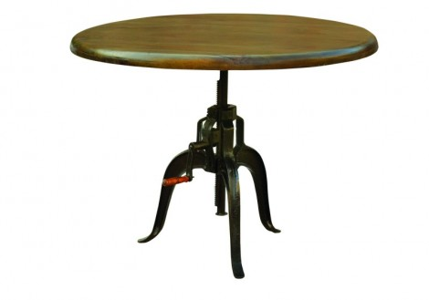 "Rockwell Adj. 48"" RND Dining Table"