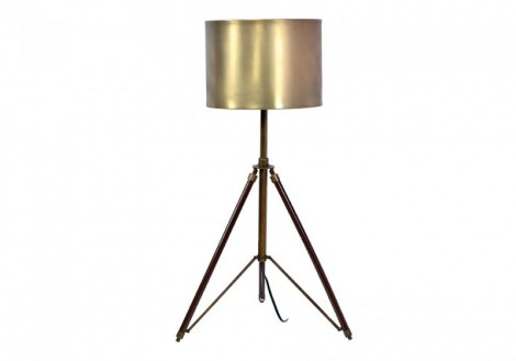 Wooden Tripod Table Lamp