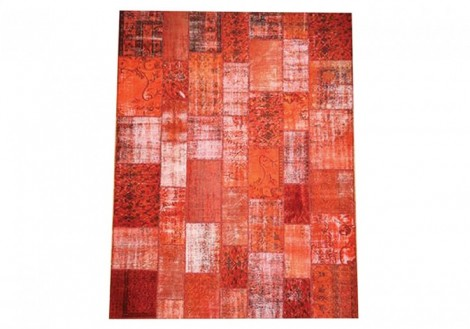 Patchwork Rug 5x8 - Red
