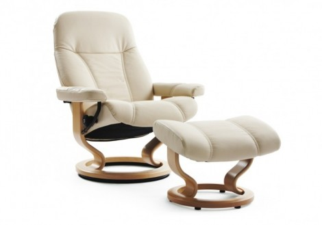 Ekornes Stressless Consul Small Leather Recliner