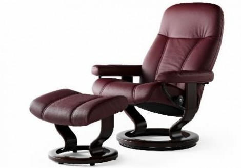 Ekornes Stressless Consul Medium Leather Recliner