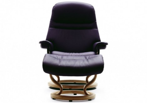 Sunrise Medium Leather Recliner - Ekornes Stressless