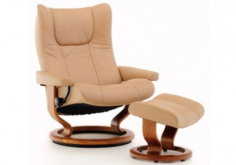Wing Large Leather Recliner - Ekornes Stressless