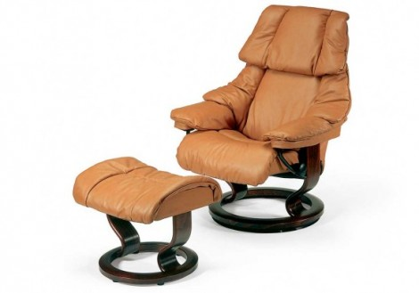 Ekornes Stressless Reno Small Leather Recliner Chair