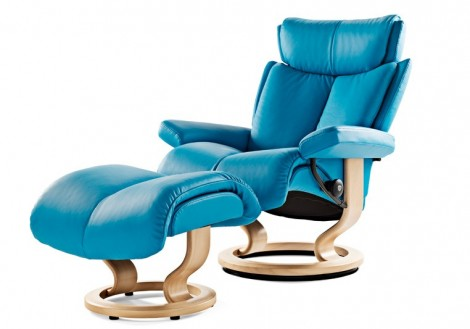 Ekornes Stressless Magic Medium Leather Recliner Chair
