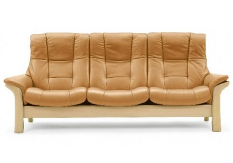 Buckingham Leather High Back Sofa