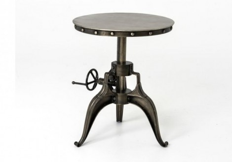 "Four hands Crank 22"" end side table"