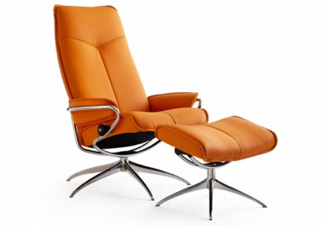 Ekornes Stressless City High-Back Leather Recliner Chair