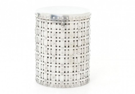 Marlow Woven Round Accent Table