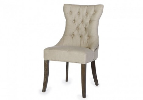 Janet Linen Fabric Dining Chair