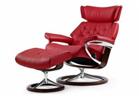 Ekornes Stressless Skyline Medium Leather Recliner Chair