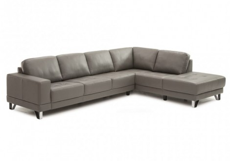 Tacoma Leather Chaise Sectional Sofa