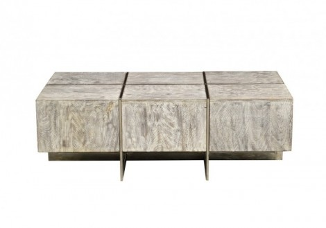 Desmond Wood Metal Coffee Table