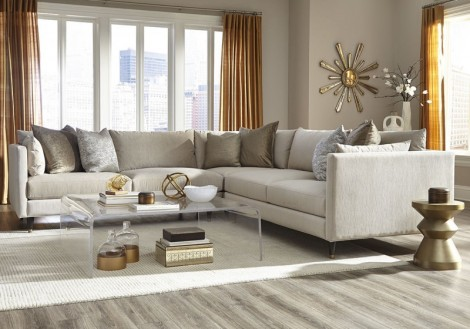 Jonathan Louis Pia Fabric Sectional Sofa