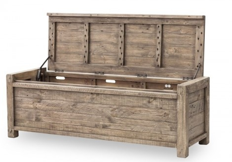 Solid wood Post & Rail Blanket Chest