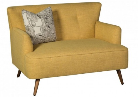 Nikki Settee Retro Fabric Chair