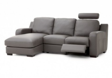 Palliser Embrace Chaise w/ Recliner Leather Sectional Sofa