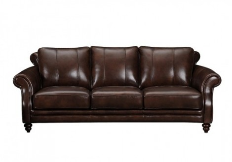 Skylar Distressed Leather Sofa