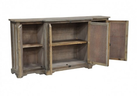 Wells Sideboard Solid Wood Mirrored