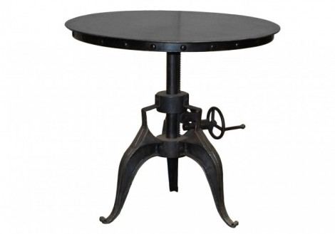 "Eisen 30"" Metal Crank Table"