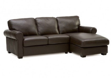 Palliser Vigo chaise Leather sectional sofa