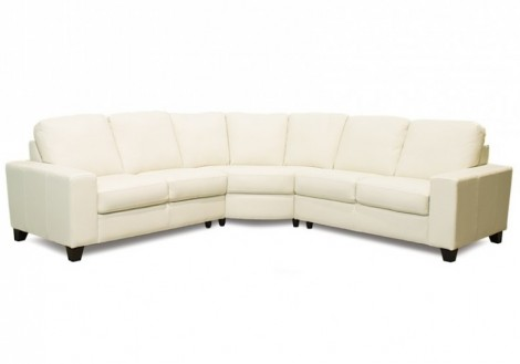 Palliser Palma Leather Sectional Sofa