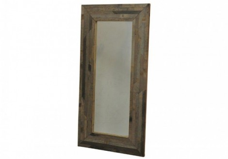 Reclaimed Solid Wood Tall Mirror