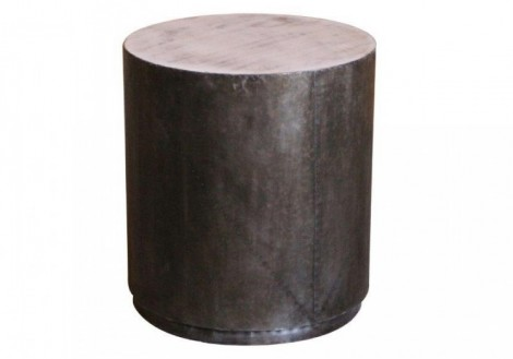 Metro Design side End table metal wood