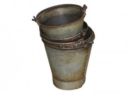 Iron Metal Decorative Display Buckets