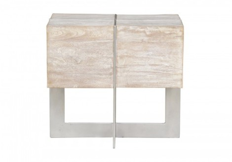 Desmond End Table Wood Metal