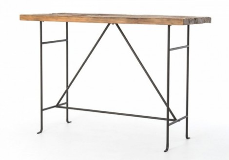 Yardley Bar Table Four Hands Solid Wood Iron