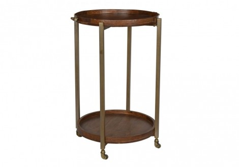 Baxter solid wood round bar table