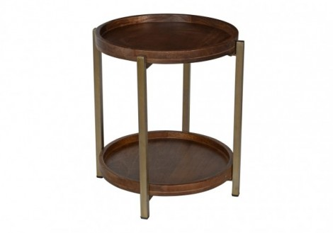 Baxter solid wood round side table