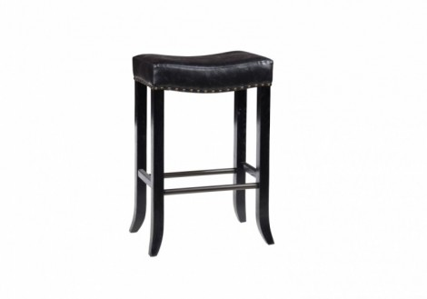 Camille Backless Black Bar Stool