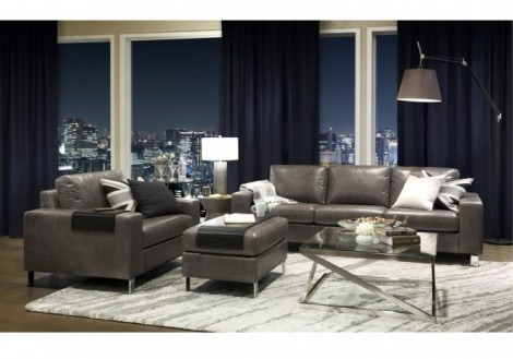 PALLISER Inspirations Leather Loveseat