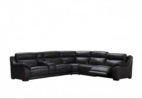 Declan Leather Power Sectional