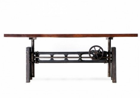 Industrial Bar/Dining Crank Table