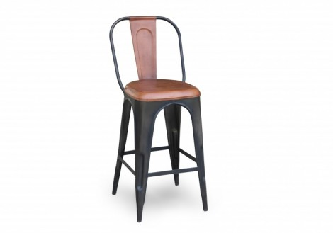 Industrial Metal Counter Stool