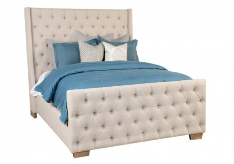Laurent King Tuffted Bed