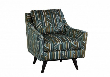Carrie Swivel Fabric Chair - Jonathan Louis