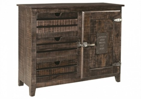 3 Drawer 1 Door Wood Storage Cabinet Chest
