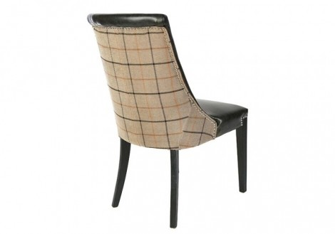 Bonded Leather/Fabric Granite Dining Chair