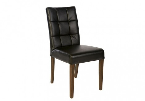 Leo Black Leather Dining Chair