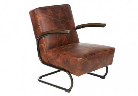 Billy Distressed leather Chair