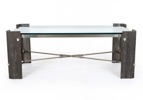 Four Hands Frankie Coffee table w/ glass