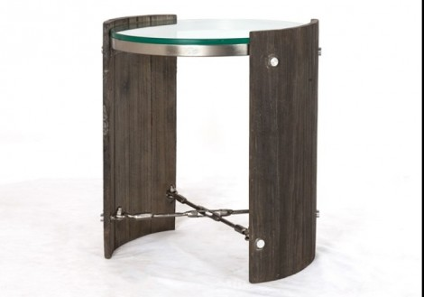 Four Hands Frankie End Table w/ Glass