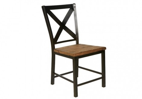 Portofino Side chair solid wood & Steel